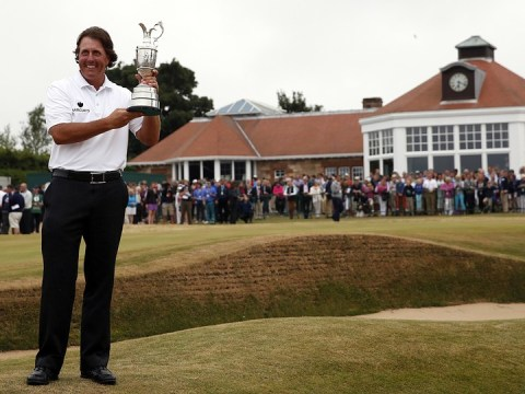 Phil Mickelson has an early look at Oak Hill ahead of US PGA