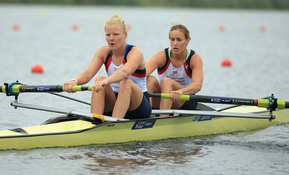 Helen Glover and Polly Swann complete the treble in Switzerland