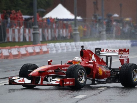 Video: Ferrari's Kamui Kobayashi left red-faced in Red Square after coming a cropper at the Kremlin