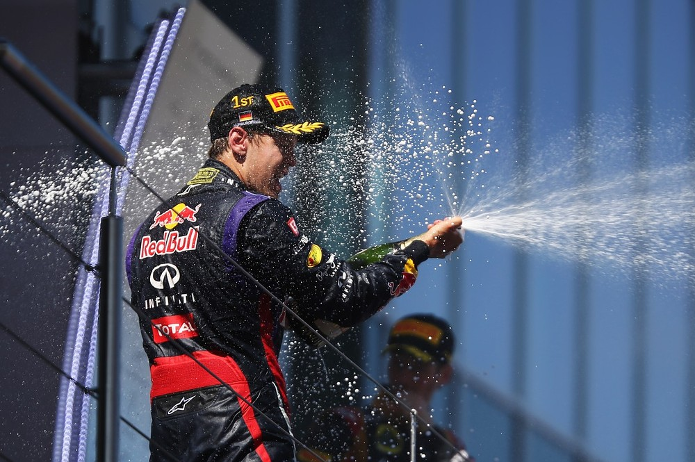 Sebastian Vettel wins his home German Grand Prix to stretch lead at the top