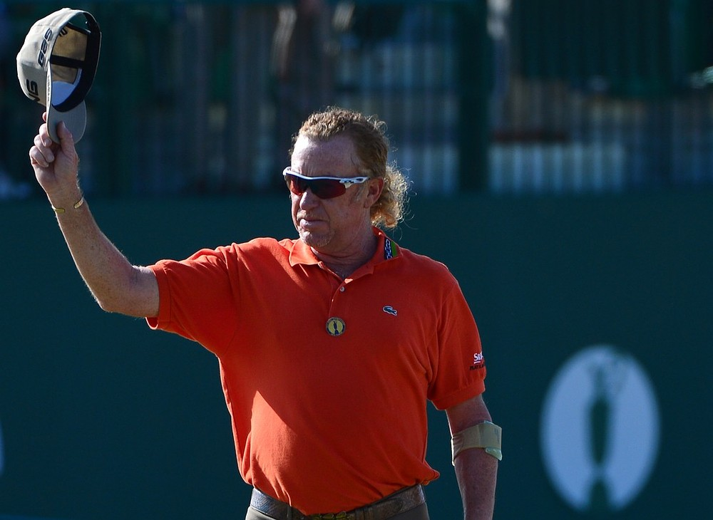 The Open 2013: Miguel Angel Jimenez leads at Muirfield as Rory McIlroy crashes out