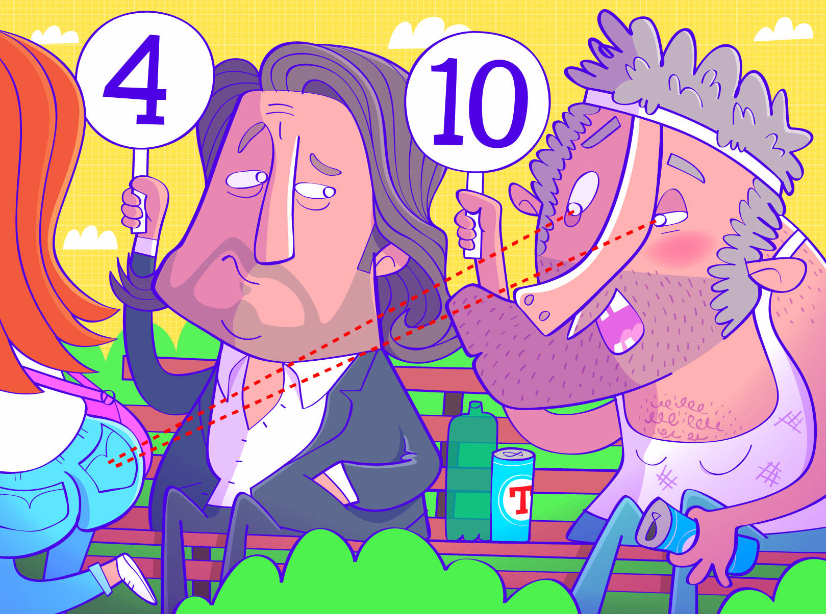 Richard Herring does not look at other people's bottoms (Picture: The Boy Fitz Hammond/NB Illustration)