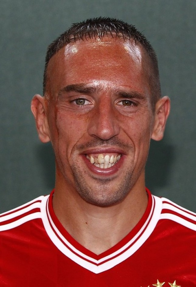 Size matters: Ribery's moment in the tunnel was the height of embarrassment (Picture: Reuters)