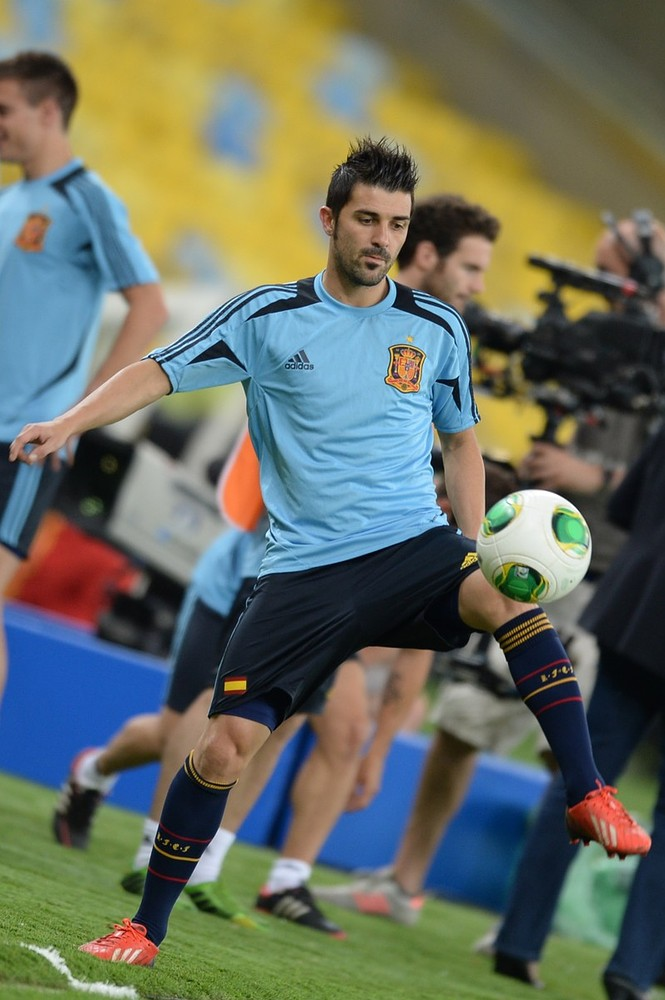 Makeweight: Spain's forward David Villa (Picture: AFP/Getty Images)