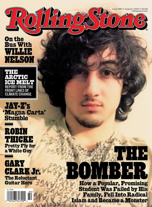 Rolling Stone defends 'rock star' front cover featuring Boston marathon bombing suspect