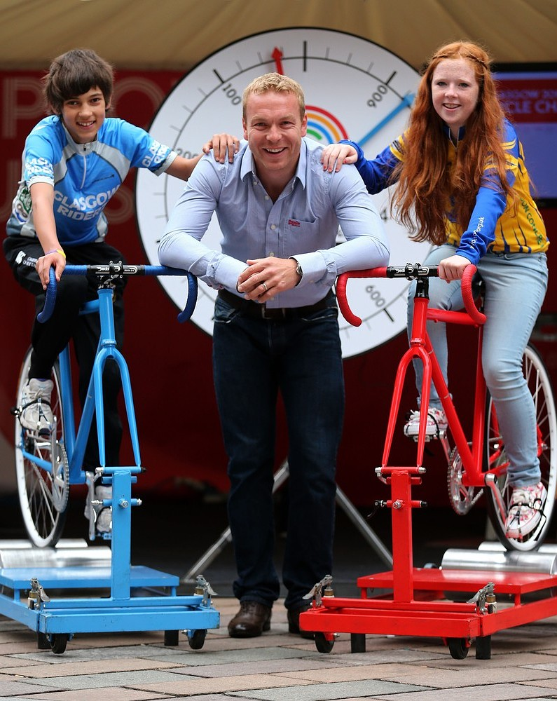 Sir Chris Hoy kick-starts one-year countdown to 2014 Glasgow Commonwealth Games