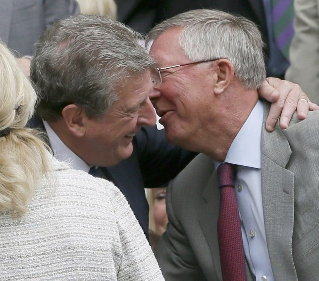 Funny seeing you here: Hodgson and Ferguson greet each other in the Royal Box today (Picture: Reuters)