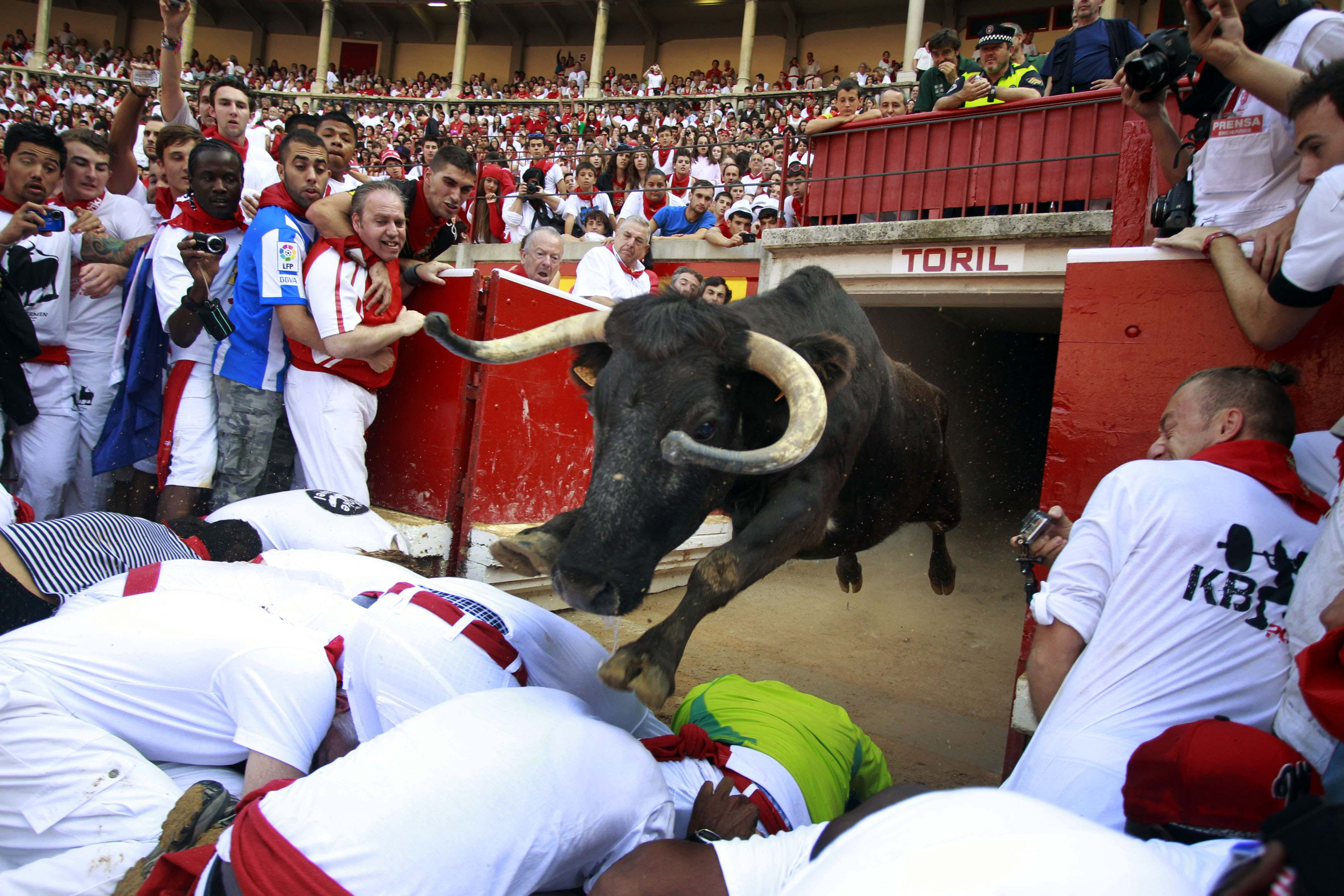 Gallery: Brit gets gored by bulls at Pamplona