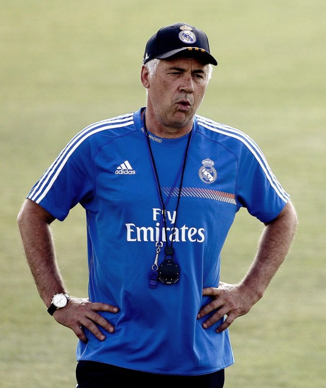 First training session of Real Madrid