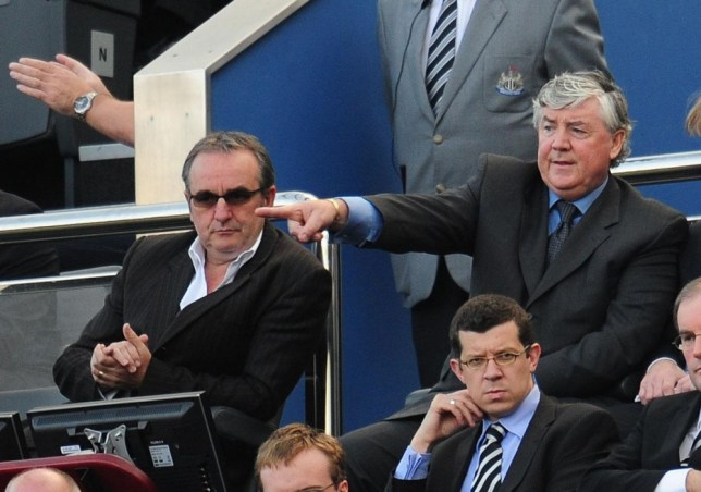 File photo dated 27/09/2008 of Newcastle manager Joe Kinnear (right) with Derek Llambias (left). PRESS ASSOCIATION Photo. Issue date: Wednesday June 19, 2013. Newcastle managing director Derek Llambias has resigned from his role with immediate effect, the club have announced on their official website. See PA story SOCCER Newcastle. Photo credit should read: Owen Humphreys/PA Wire