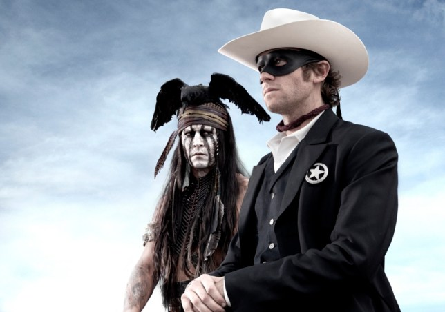 """From producer Jerry Bruckheimer and director Gore Verbinski comes Disney/Bruckheimer Films' """"The Lone Ranger."""" Tonto (Johnny Depp), a spirit warrior on a personal quest, joins forces in a fight for justice with John Reid (Armie Hammer), a lawman who has become a masked avenger."""