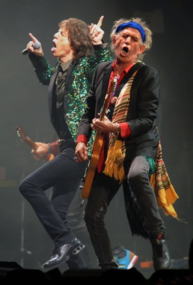 Rolling Stones Mick Jagger and Keith Richards are on fine form (Picture: Anthony Devlin/PA Wire)