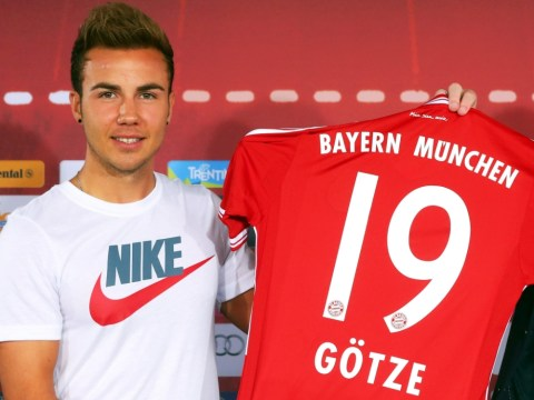 Mario Gotze angers adidas by wearing huge Nike shirt at Bayern Munich unveiling
