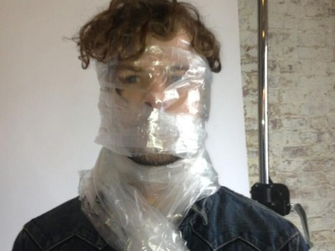 The Wanted's Jay McGuinness prompts complaints after head in plastic bag stunt