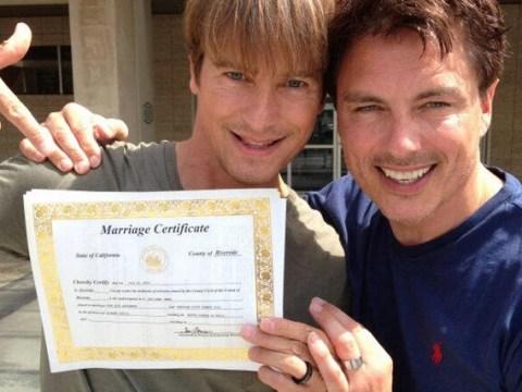 John Barrowman legally weds his long-term lover Scott Gill in California