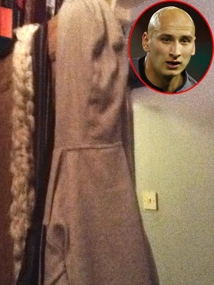 Swansea's Jonjo Shelvey finds a lookalike in the cupboard