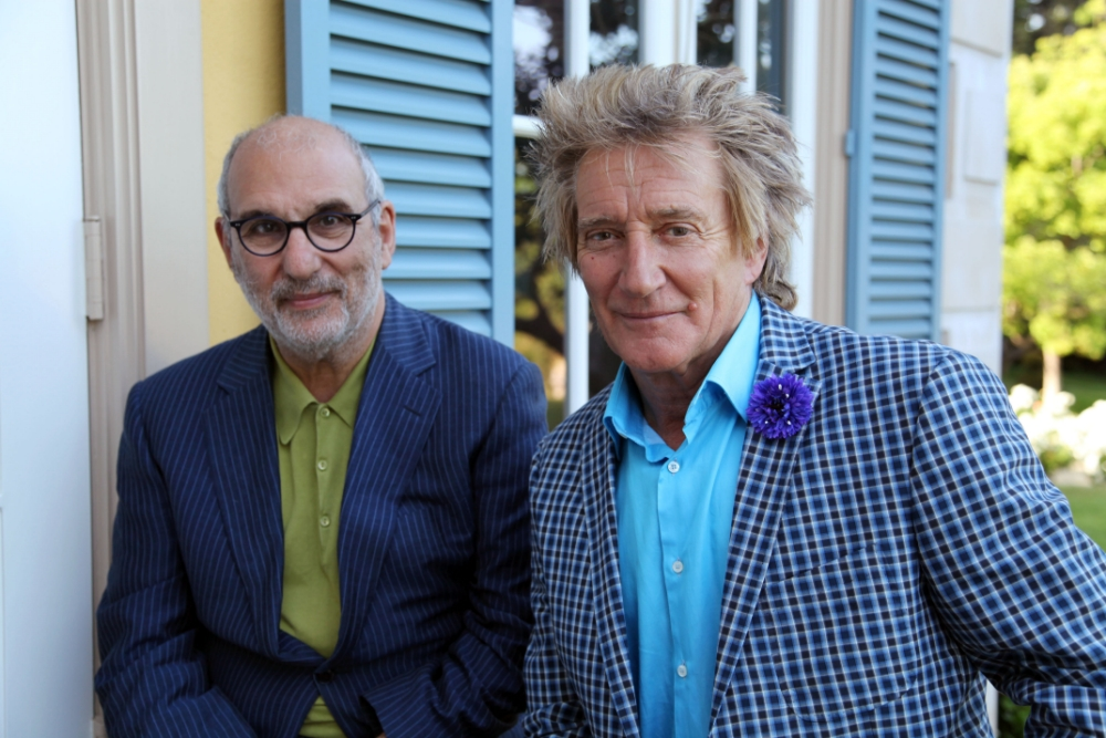 Alan Yentob seemed to have a mancrush on Rod Stewart in the latest Imagine (Picture: BBC)