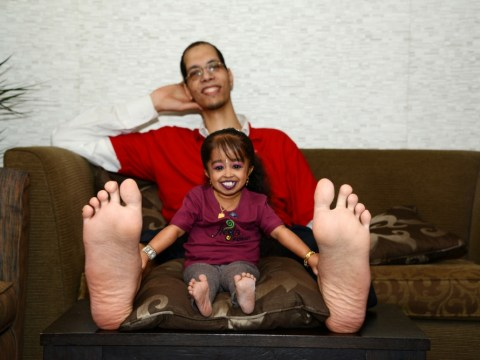 Man with world's biggest feet finds his sole mate in planet's smallest woman