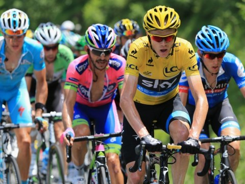 Chris Froome finds himself isolated but still in front