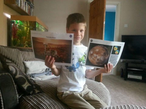 Boy, 7, over the Moon to get response from Nasa over Mars request