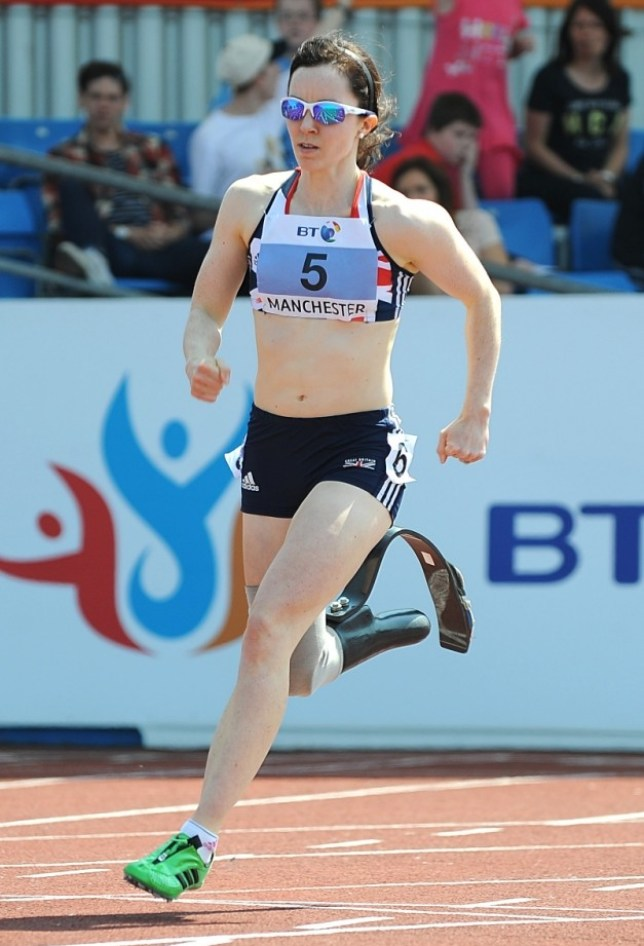 Great Britain's Stephanie Reid during the T42/43/44 Women's 200m during Day 1 of the 2012 BT Paralympic World Cup in Manchester