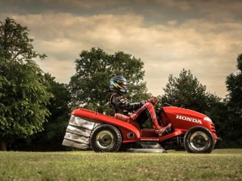 Mower that's a cut above: Honda's 1,000cc machine can reach speeds of 130mph