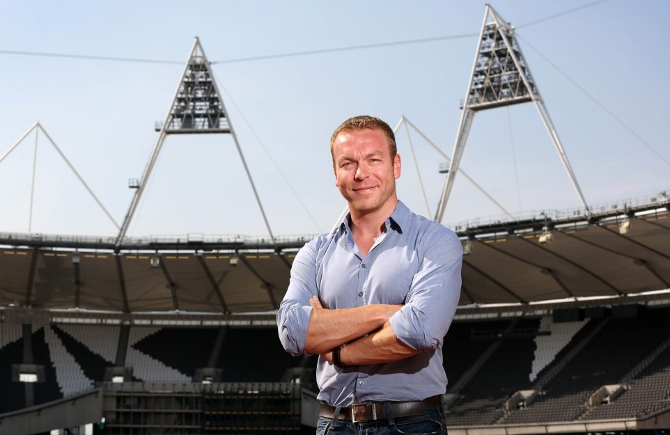 Cycling legend Sir Chris Hoy flags up his memories of London on return to the Olympic Stadium