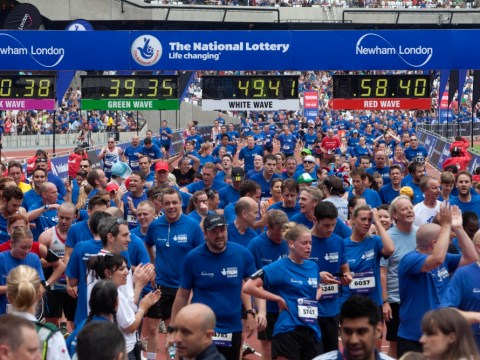 Romance and nostalgia as thousands take part in National Lottery Anniversary Run