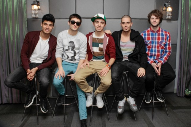 LOS ANGELES, CA - FEBRUARY 11:  (EXCLUSIVE COVERAGE)  The Wanted chatting about The Ultimate iHeartRadio VIP Valentine's Day Experience sponsored by HP on February 11, 2013 in Los Angeles, California.  (Photo by Mike Windle/Getty Images for Clear Channel)