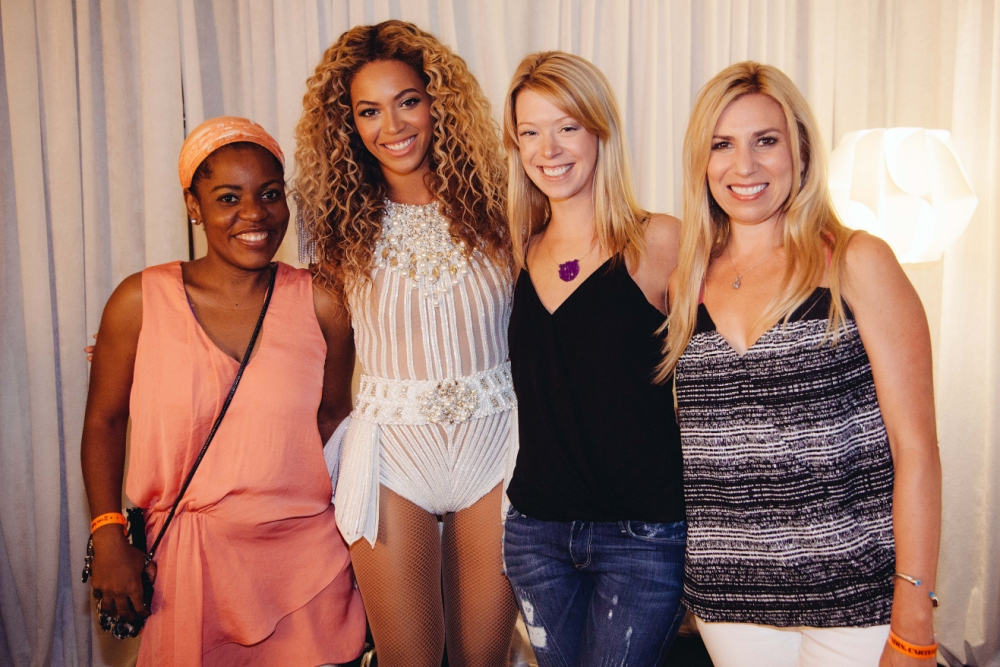 Heart of gold: Beyonce shows off her Halo as she invites Boston marathon bombing victims backstage