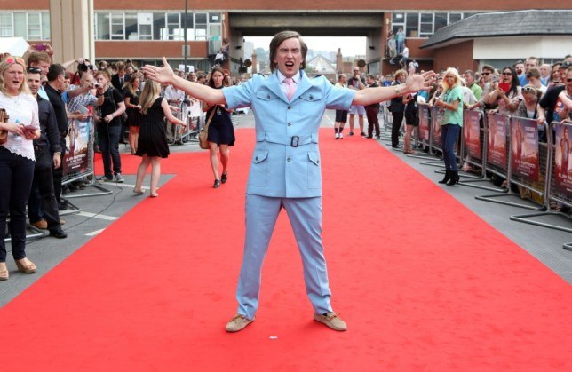 Comedian Steve Coogan, as his alter-ego Alan Partridge, attends the world premiere of his new film Alpha Papa at the Hollywood Cimema in Anglia Square, Norwich, Norfolk. PRESS ASSOCIATION Photo. Picture date: Wednesday July 24, 2013. See PA story SHOWBIZ Partridge. Photo credit should read: Chris Radburn/PA Wire