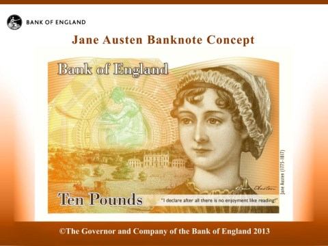 Jane Austen to be the new face of the £10 note after outcry at lack of women on currency