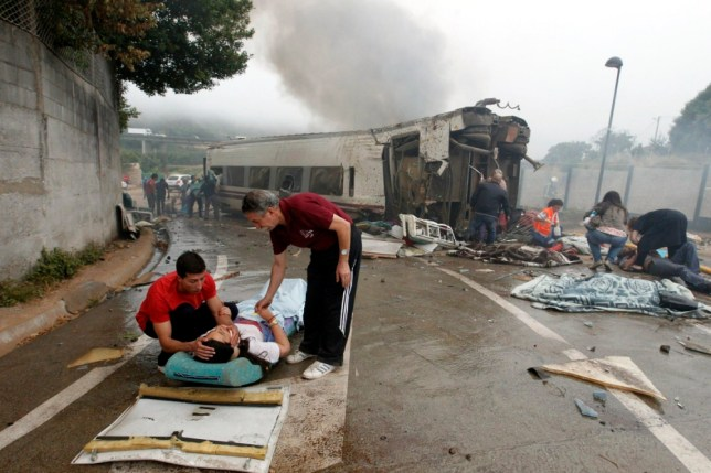 Spain train crash: Dozens killed with Briton among injured
