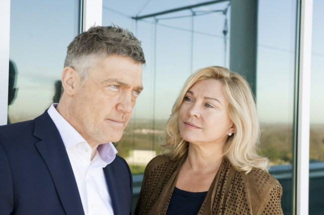 Vincent Regan and Amanda Redman (Picture: BBC/Wall To Wall)