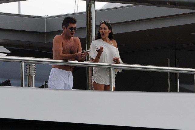 Simon Cowell enjoying his holidays in St Barth's on the yacht 'Slipstream' with some friends. <P> Pictured: Simon Cowell  <P> <B>Ref: SPL347354  040112  </B><BR/> Picture by: Crystal / Splash News<BR/> </P><P> <B>Splash News and Pictures</B><BR/> Los Angeles:310-821-2666<BR/> New York:212-619-2666<BR/> London:870-934-2666<BR/> photodesk@splashnews.com<BR/> </P>