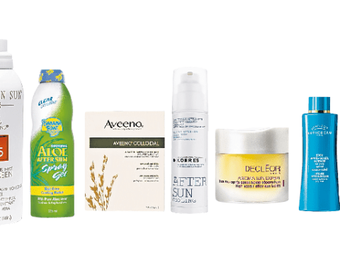 Aveeno Colloidal Bath Powder and Korres Yoghurt Cooling Aftersun Gel: Products to restore sunburnt skin