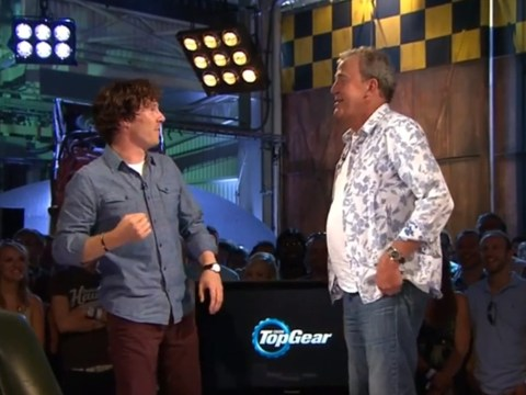 Benedict Cumberbatch fake punches Jeremy Clarkson on Top Gear