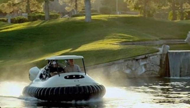 Water way to go! The BW1 in action across a water hazard. (Picture: USA Today)