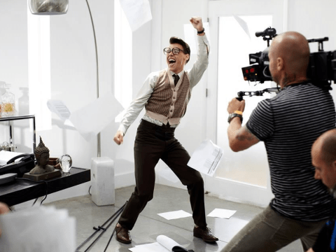 One Direction star Harry Styles channels geek chic in Best Song Ever teaser