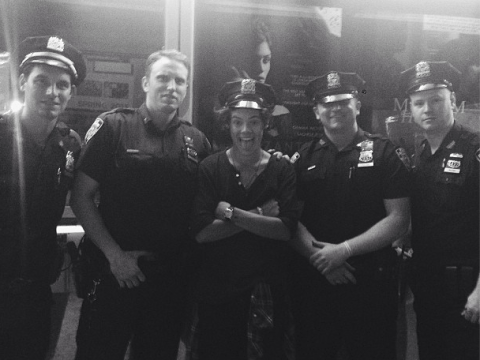 Harry Styles has a run in with the law: posts photograph of himself with NYPD