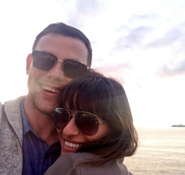 Lea Michele with Corey Monteith
