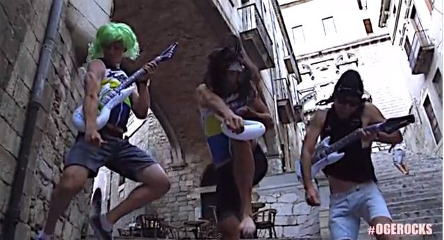 VIDEO: Tour de France team Orica-GreenEdge celebrate stage win with AC/DC cover