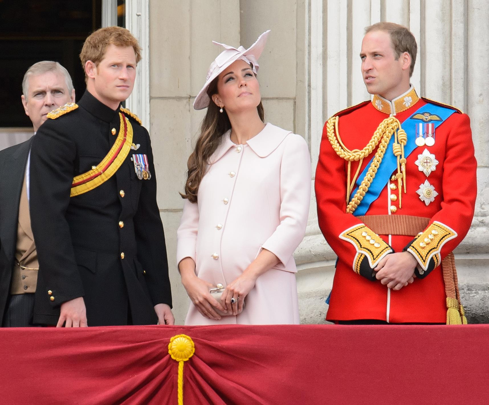 Kate made her final public appearance before the birth at the annual Trooping the Colour parade (Picture: PA)