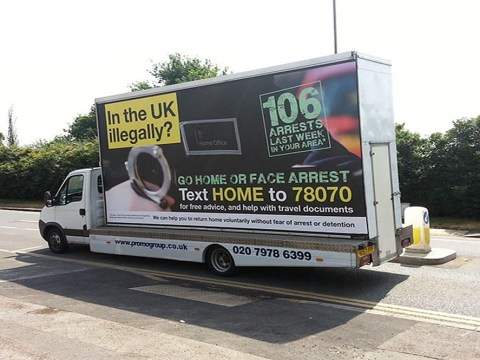Advertising watchdog to review government's 'Go Home' van campaign