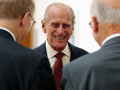 Prince Philip says he's glad to be 'back in circulation' after first public appearance since surgery
