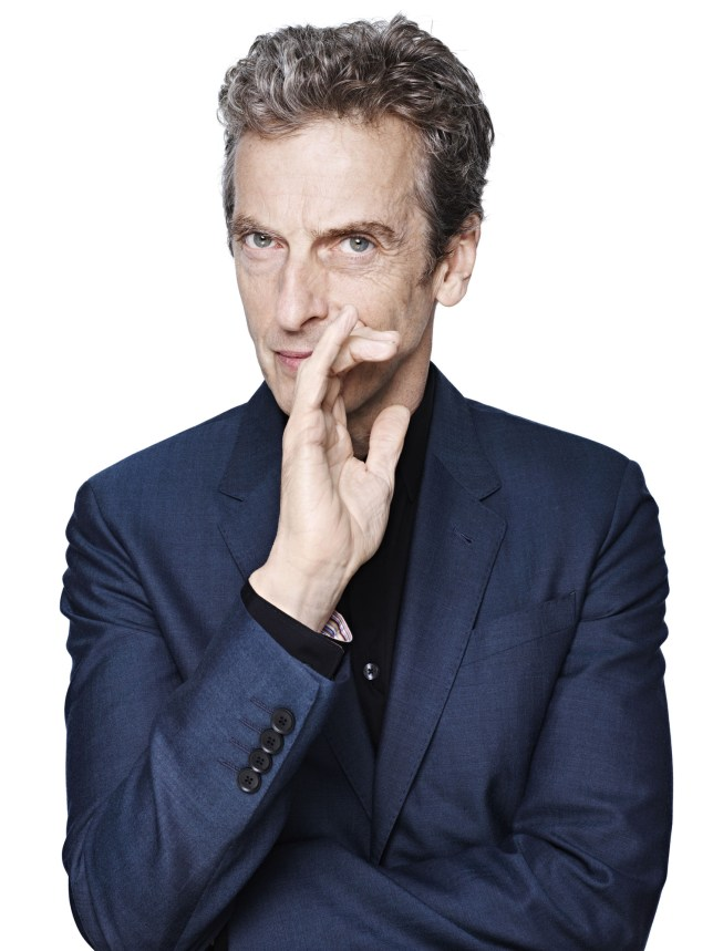 Capaldi's first official photograph as the twelfth Doctor (Picture: BBC)