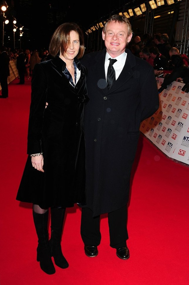 Keepin' it real: Martin Clunes intervened when doctors wanted to remove the appendix of his wife Philippa Braithwaite, seen here on red carpet (picture: PA Wire/Press Association Images)