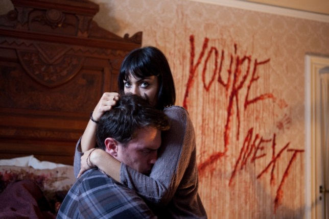 Nick Tucci and Wendy Glenn star in indie slasher You're Next (Picture: AP)