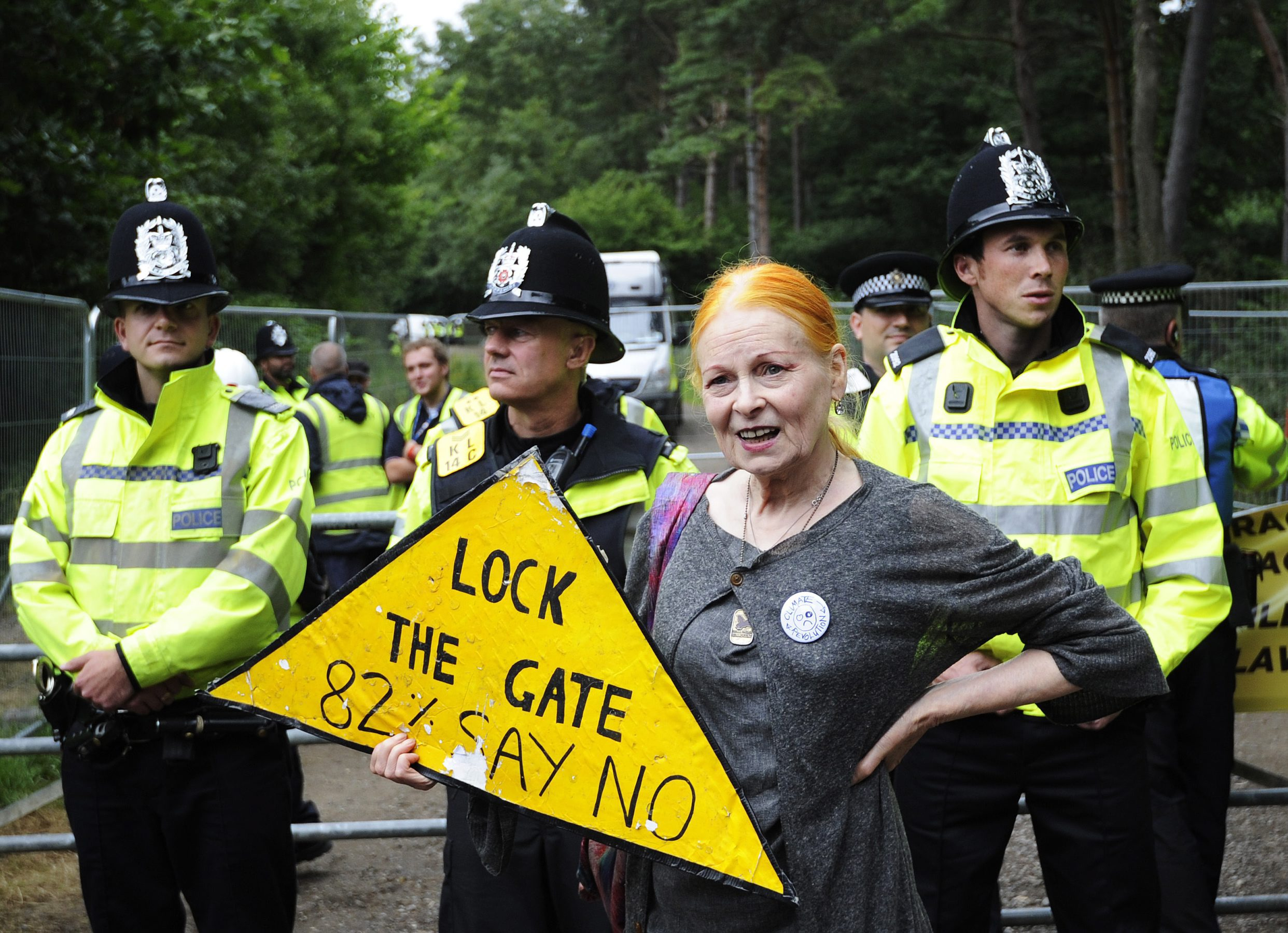 Gallery: Vivienne Westwood leads Cuadrilla Resources anti-fracking protest in Balcome West Sussex