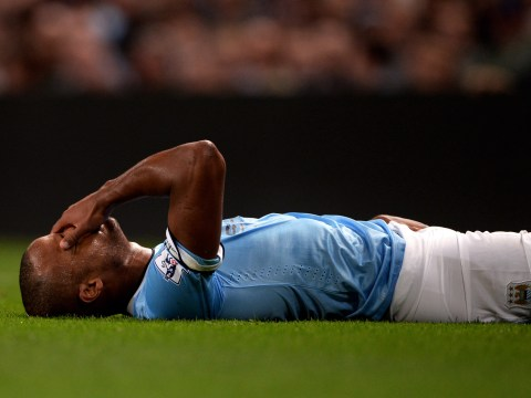 Manuel Pellegrini: Manchester City sweating on 'serious' Vincent Kompany injury